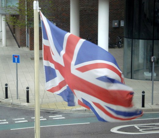 Royal Maritime Club: the Union Jack flying
