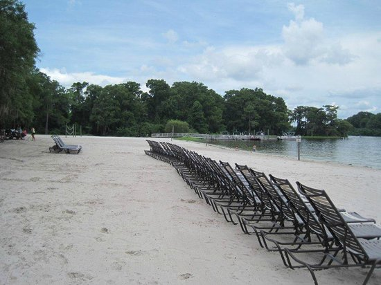 """The Campsites at Disney's Fort Wilderness Resort: The beach where you can watch """"Wishes"""""""