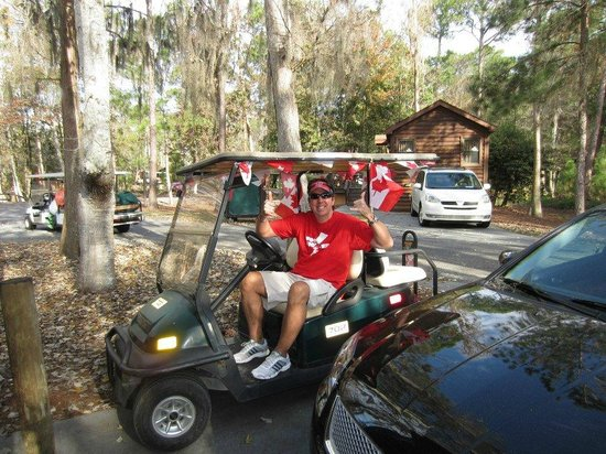 The Campsites at Disney's Fort Wilderness Resort : My fave mode of transportation around the resort