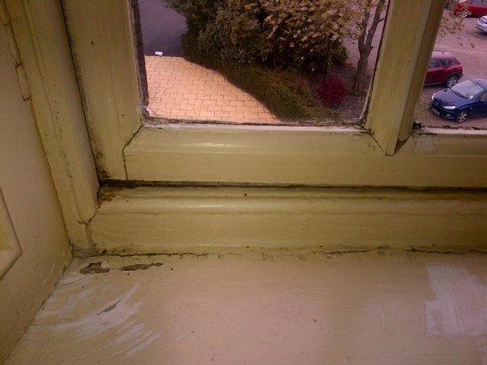 Macdonald Houstoun House: Yellowed Window Frame