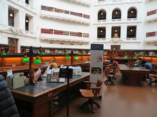 Biblioteca Estatal de Victoria: sala lettura