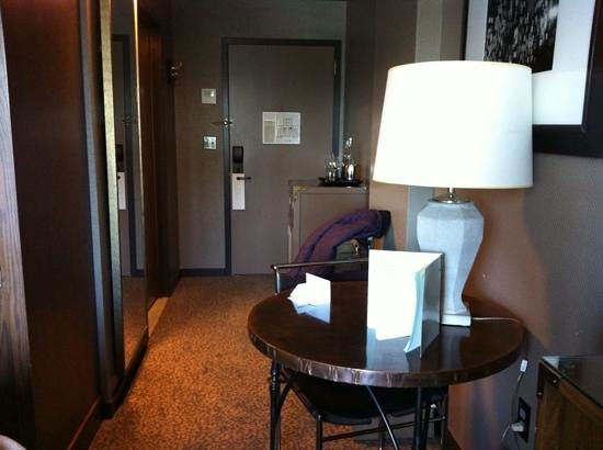 Soho Grand Hotel: A small dining table in the room.