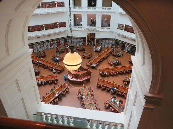 State Library of Victoria: Sala lettura dall'alto