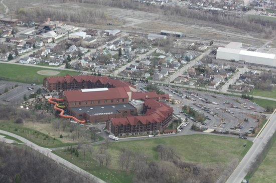 Great Wolf Lodge : Aerial view from