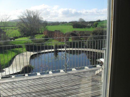 Viver Water Mill: Vista desde el living de un estanque frente al deck