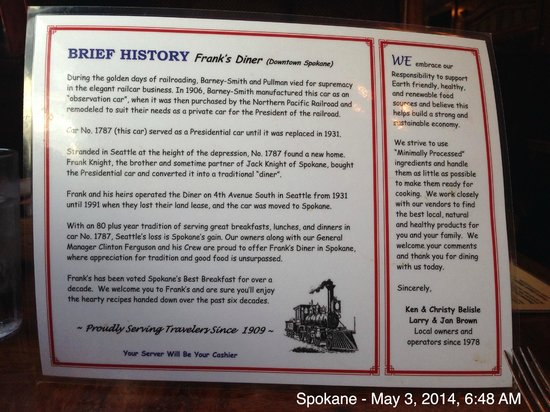 History of Frank's Diner