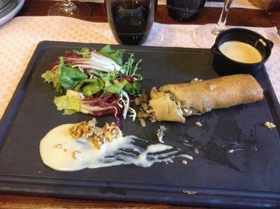 Auberge La Beursaudiere : Croustillant d'andouillette et d'escargots