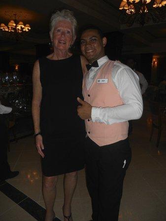 Grand Bahia Principe Cayacoa : Joan and Jordy in the buffet