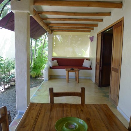 Villas EVA LUNA : taken on the balcony, at table where I had my breakfast