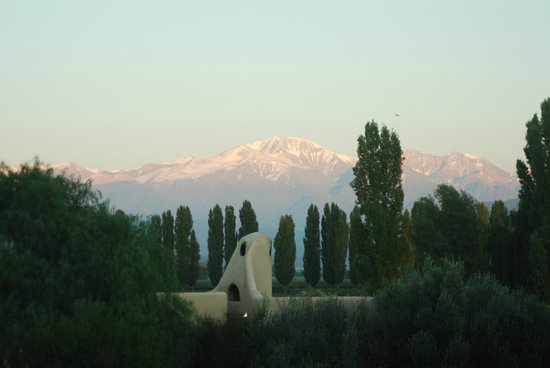 Cavas Wine Lodge: Sunrise on the Andes with view of one of the Casitas