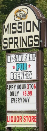 Mission Springs Brewpub & Restaurant: Signage