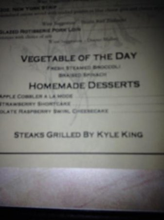Cherokee Grill: Kyle is the King: grill master