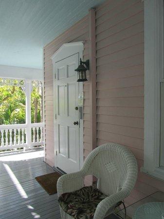 Ambrosia Key West Tropical Lodging: Honeymoon suite door
