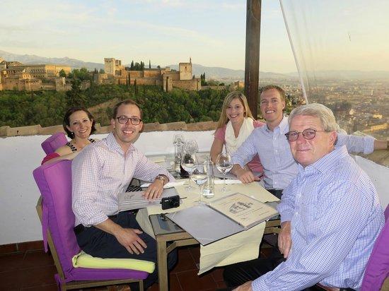 Restaurante Estrellas de San Nicolas: view and our table on the uppermost patio.