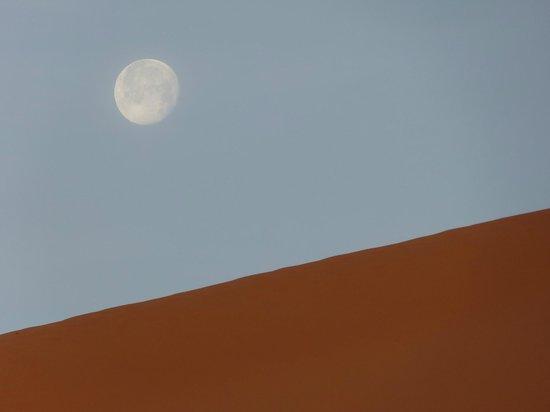 Ksar Bicha: Couché de lune au petit matin