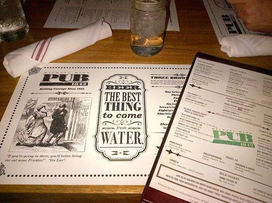 Michael Mina Pub 1842: The menu