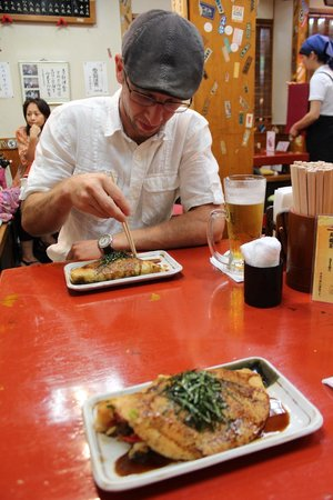 Issen Yoshoku: Enjoying the tasty concoction with a refreshing beer