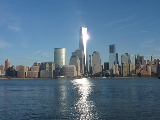 Downtown Jersey City, New Jersey - Waterfront 9/11 Memorial - #8: The Waterfront: View of NYC's Skyline across the Hudson. (Nov 2013 photo)