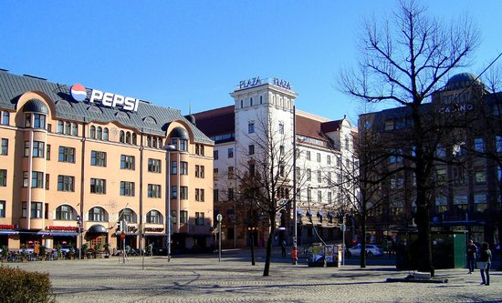 Radisson Blu Plaza Hotel, Helsinki: A view of the hotel from Railway Square