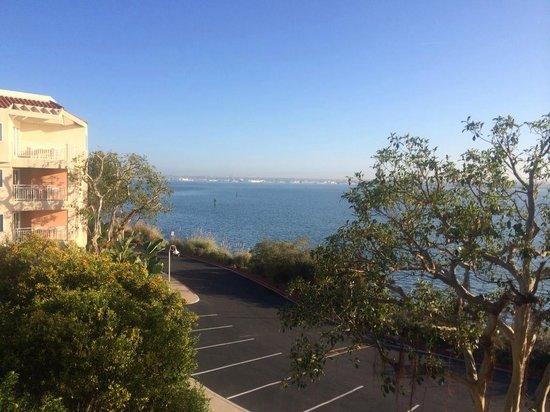 Loews Coronado Bay Resort: view from the room overlooking Coronado Bridge in the background