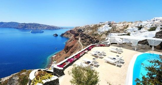 Canaves Oia Hotel: View from room.