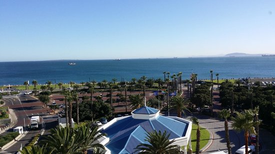 The Table Bay Hotel: View towards Robin Island from the room