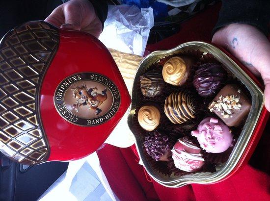 Chubby Chipmunk Hand Dipped Chocolates : $36 truffles w tin