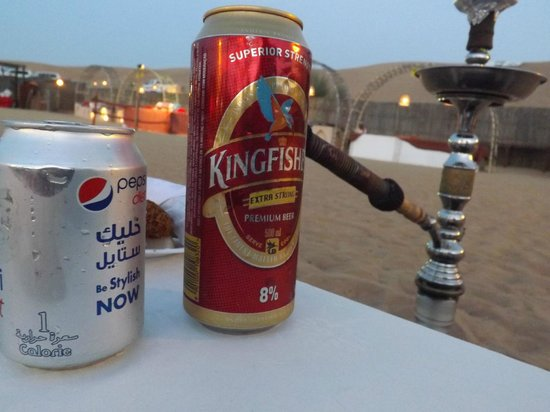 Lama Tours: Kingfisher beer, too expensive, but good and cold!