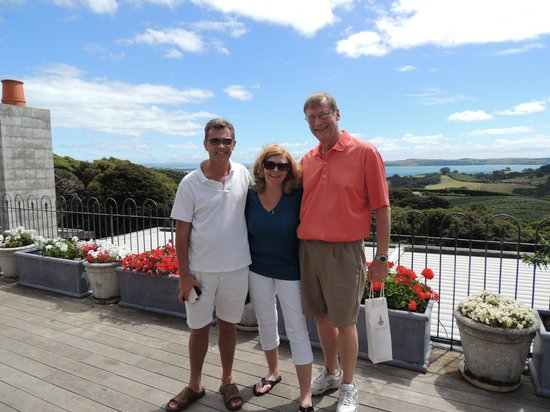 NZWINEPRO - Auckland Wine Tours: John with Sandy and Allen