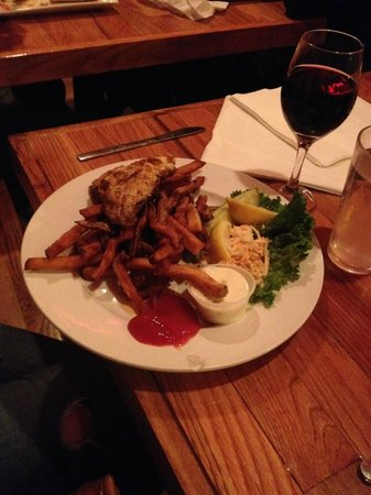 Blackened Redfish with Sweet Potato Fries