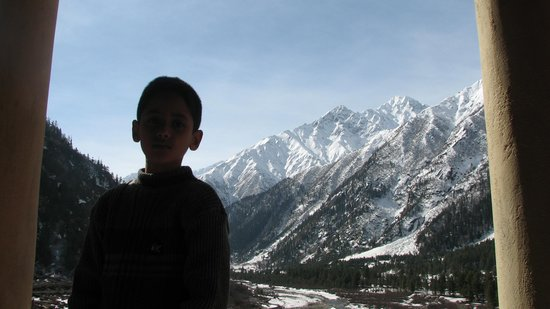Hotel Rupin River View : Our Son at the Balcony