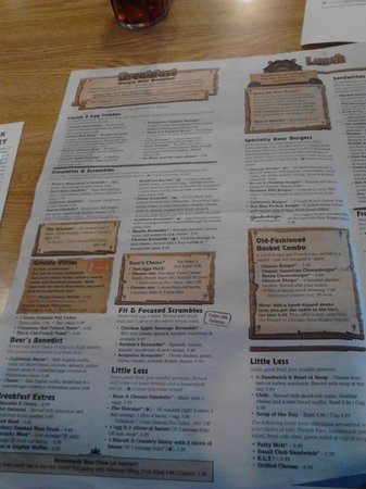 Black Bear Diner: Menu