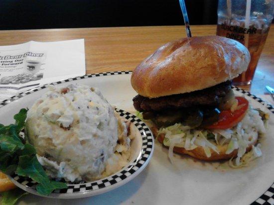 Black Bear Diner: Burger w/ Potato Salad