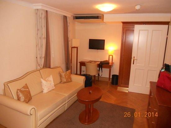 Hotel Elefant: La zona soggiorno della camera