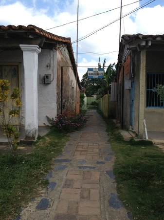 Casa Villa Caricia: The casa is down behind two houses