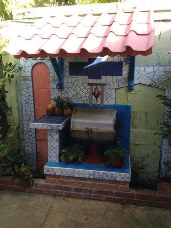 Casa Villa Caricia: Outdoor kitchen area