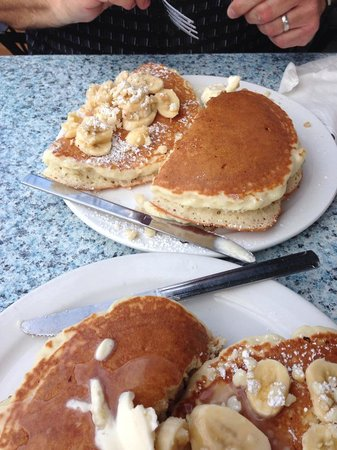 Kihei Caffe: This is a single pancake order we split