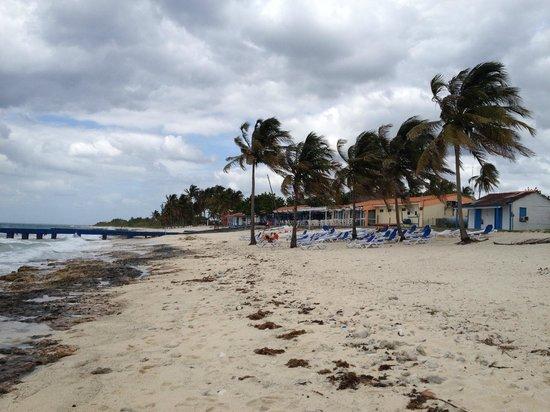 Hotel Maria La Gorda: Restaurant and dive center on the beach