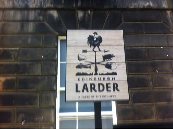 Edinburgh Larder Bistro: At the top of the stairs down to the basement bistro