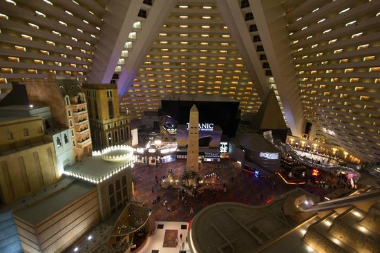 Luxor Hotel View From The Interior Balcony 15th Floor