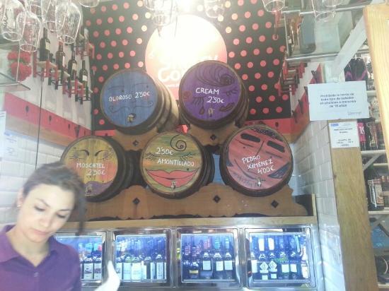 Degustación de Jerez en The Sherry Corner en el Mercado de San Miguel: Photo of Sherry tasting at The Sherry Corner, San Miguel Market taken with TripAdvisor City Guid