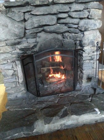 Cheaha State Park Resort : Fireplace in the Chalet