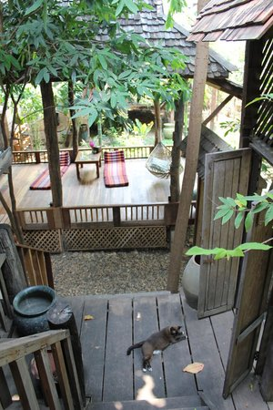 BaanBooLOo : Vue sur l'espace détente d'une chambre
