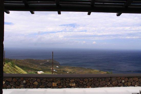 Aenaon Villas: view from terrace, Kallista villa