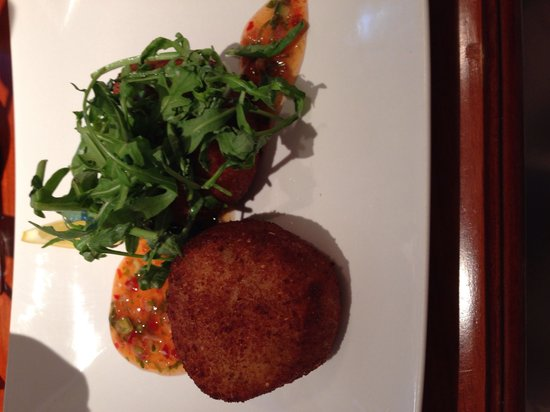 Antico Boutique Hotel: Lovely starter, fish cakes with sweet chilli sauce