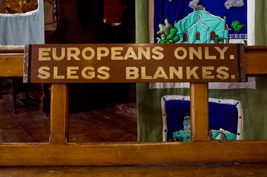 District Six Museum : Banco proibido para não-brancos.