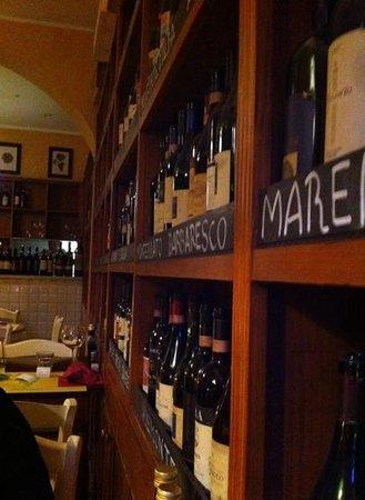Enoteca Boccadama : les vins