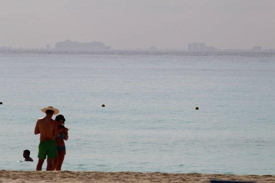 Hotel Riu Palace Riviera Maya: Cozumel in the distance