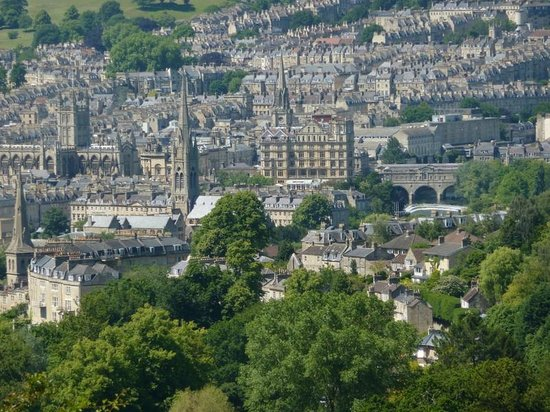 Bath Tours - City and Country Walk: View from the hills