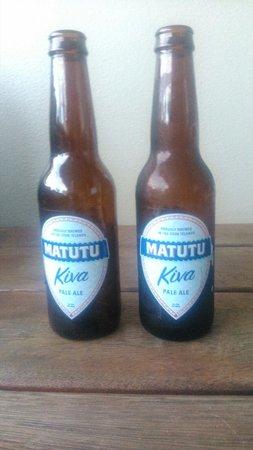 Sunset Resort: Mycket god öl från ön.